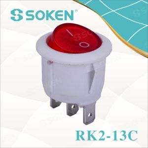 Soken Rk2-13c Round on off Rocker Switch pictures & photos