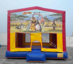 Inflatable Bouncer With Madagascar Hook & Loop Art Panel (B2119) pictures & photos