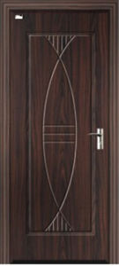 Good Price MDF Door with PVC Veneer (Al-8010 pictures & photos