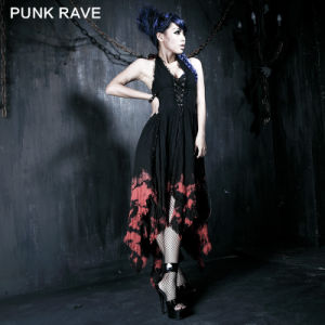 Punk Rave Dyed Fashion Lady Maxi Long Skirt (Q-172) pictures & photos