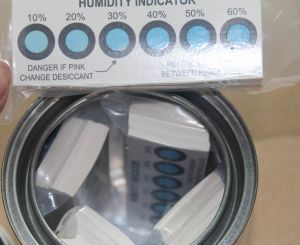 Rh Value From 10% to 60% Cobalt Free Humidity Indicator Cards