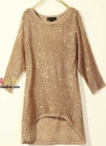 China Gold Pullover Sweater with Lurex (YR009) - China Pullover ...