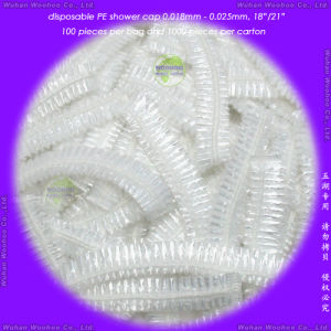 Disposable PE Stripe Shower Cap pictures & photos