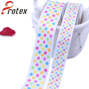 Polka DOT Printed Grosgrain Ribbon pictures & photos