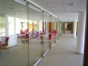 Office Access Use Automatic Operation Frameless Glass Sliding Door pictures & photos