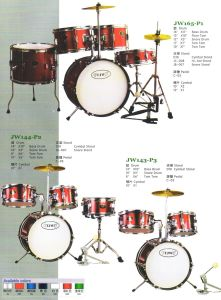 Junior Drum Sets, Drum Kits (JW165-P1, JW144-P2, JW143-P3)