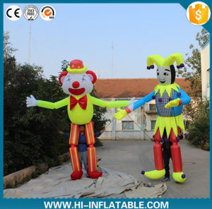 Atractive Advertising Inflatable Moving Cartoon Inflatable Clown Cartoon Inflatable Stilts Costume with Long Legs