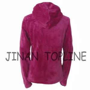 Women Fake/Faux Fur Softshell Hoody Fashion Figure-Flattering Jacket pictures & photos