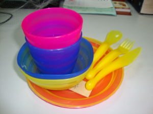 PP Tableware Set Outdoor Plate Cup Knife Spoon Child Kitchen Kids pictures & photos