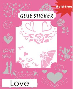 DIY Stickers with Double Sided Adhesive Motif and Foil GS184