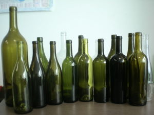 750ml Red Wine Bottles with Screen Printing pictures & photos