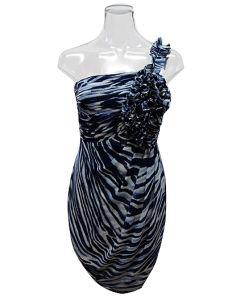 Lady Pleatting Strap Leopard Print Knitted Fashion Dress (EF D2009)