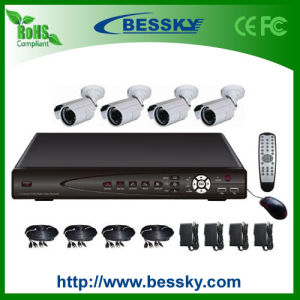 4CH H. 264 Full D1 DVR and Waterproof IR Camera CCTV Kit