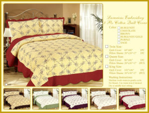 3PCS Cotton Quilt Cover Twin/Queen/King Size Bedding