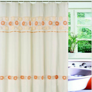 Popular Transparent Printed PEVA Shower Curtain pictures & photos