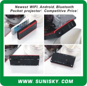 New WiFi + Android + Bluetooth Mini Pocket Projector (SMP7052) pictures & photos