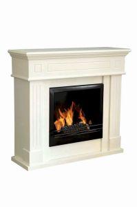 MDF White Fireplace With Ethanol Burner (FP-006M)