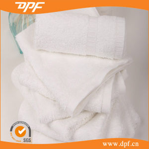 China Supplier Wholesale White Cotton Hotel Face Hand Bath Towels pictures & photos