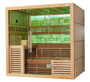 Wholesale Harvia Heater Canadian Cedar  Wood Colorful LED Light Dry Sauna Room M-6055 pictures & photos