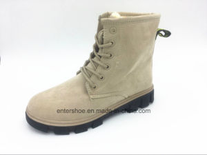 2017 Winter Warm Short Suede Casual Women Boots (ET-CH160271W) pictures & photos