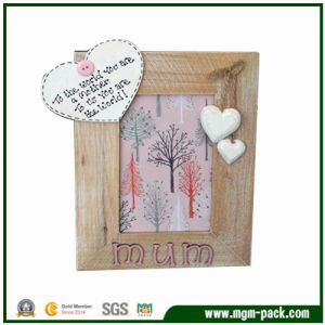 High Quality Rectangle Wooden Photo Frame for Mother′s Gift pictures & photos