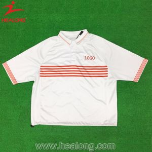 Healong Cut and Sew Silk Screen Printing Polo pictures & photos