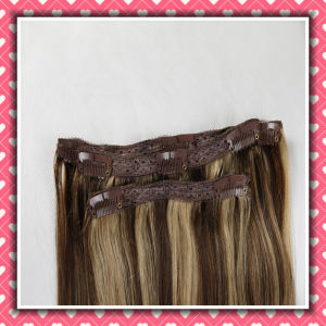 Wholesale Piano Color Clip-on Human Hair Extensions Silky 26inches pictures & photos