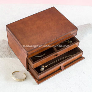 Tan / Gold Leather Jewelry Box pictures & photos