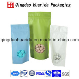 Food Grade Plastic Packaging Bag for Nuts with Clear Window pictures & photos