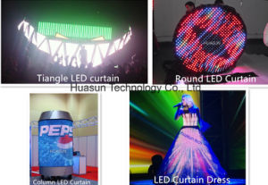 P25mm Flexible LED Curtain for Round Shape pictures & photos