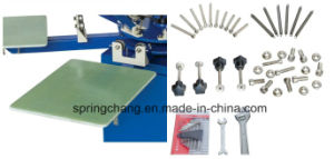 4 Color 4 Station Manual T Shirt Carousel Screen Printing Press Spm450 pictures & photos