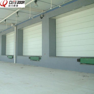 Motorized Aluminum Insulated Frosted Tempered Full View Overhead Garage Door pictures & photos