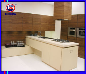 2016 New Design UV Wooden Kitchen Cabinet (ZH0968) pictures & photos