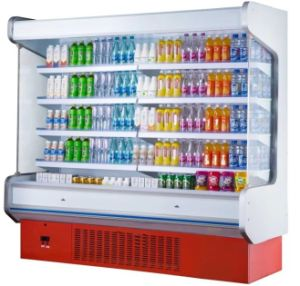 2.0m Air Cooling Supermarket Display Refrigerator pictures & photos