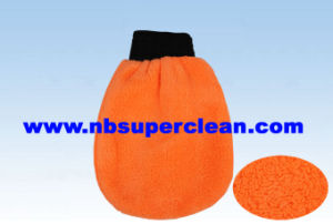 Double Face Cleaning Glove Car Wash Microfiber Mitt (CN1502) pictures & photos