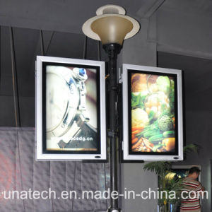 Media Double Side Lamp Pole Banner LED Lightbox Advertising Billboard pictures & photos