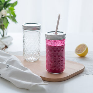 350ml Clear Unique Glass Honey Jars, Preserve Glass Bottles for Food, Mason Jars pictures & photos