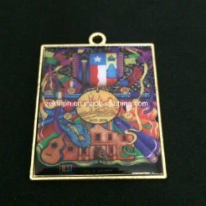 Custom Rectangle Printing Metal Medals pictures & photos