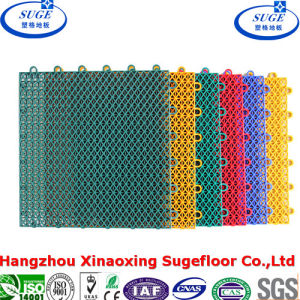 Roller Skate Interlocking Sports Flooring for Soccer Field pictures & photos