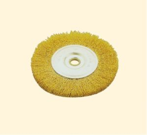 Crimped Wire Wheel Brush with Arbor Hole pictures & photos