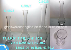 Machine Made Clear Glass Vase (CI1030) pictures & photos