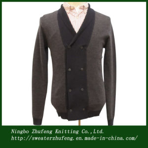 Men′s Double Breasted Cardigan Sweater Nbzf0032