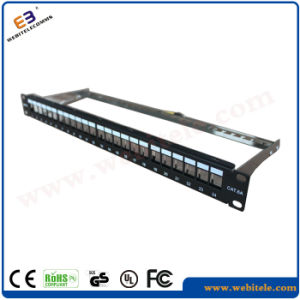 """1u 19"""" CAT6A FTP Blank Patch Panel 24 Ports Without RJ45 Krone Jackets pictures & photos"""