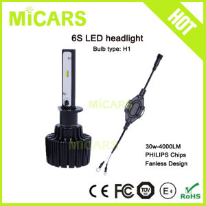 Halogen Replacement Small Size Philips 4000lm H1 Car LED Headlight
