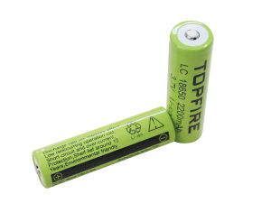3.7V 2200mAh Topfire LC18650 Li-ion Rechargeable Battery (WS40037) pictures & photos