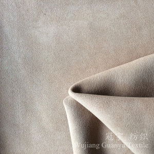 Upholstery Textile Microfiber Suede Leather Fabric for Home pictures & photos