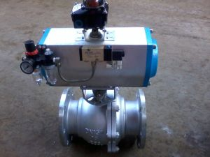 JIS Standard Pneumatic Control Flanged Ball Valve (Q641F-16C-DN150) pictures & photos