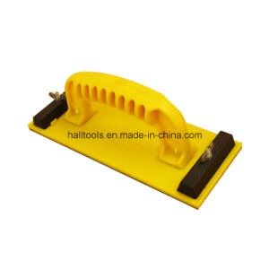 Yellow Color Plastic Handle Sanding Block