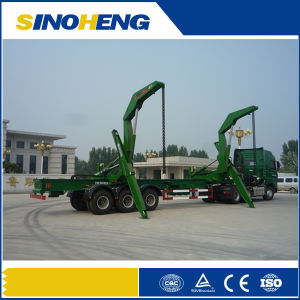 Container Self-Loading Side Crane Semi Trailer for Sale pictures & photos