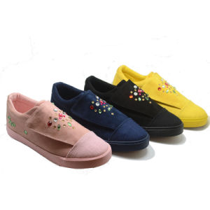 Diamante Various High Quality Injection New Fashion Women School Shoes pictures & photos
